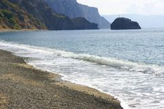 The Crimean beaches. Royalty Free Stock Photos