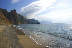 The Crimean beaches. Beach jasper on cape Fiolent Stock Photo