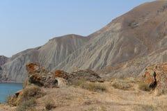 Crimean berg i sommar arkivbilder