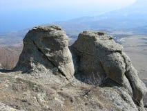 2008 crimean berg sörjer sommar Arkivfoton