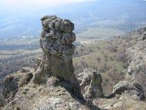 2008 crimean berg sörjer sommar Arkivfoto
