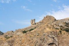 2008 crimean berg sörjer sommar Halvön av Krim Fotografering för Bildbyråer