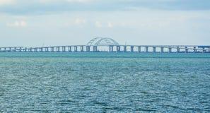 Crimean bridge. On the Black Sea and the Sea of Azov through the Kerch Strait stock image