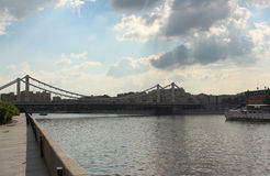 The Crimean bridge, Moscow Royalty Free Stock Images