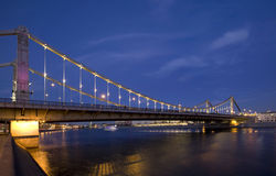 Crimean Bridge in Moscow, Russia Royalty Free Stock Photo