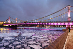 Crimean bridge in Moscow. Royalty Free Stock Image