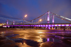 Crimean bridge in Moscow. Royalty Free Stock Photo