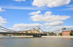 Crimean Bridge, Moscow Royalty Free Stock Photo