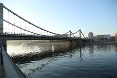 crimean bro Moskva i December Royaltyfri Fotografi