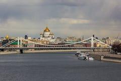 Crimean bro och Kristus frälsaredomkyrkan Royaltyfria Bilder