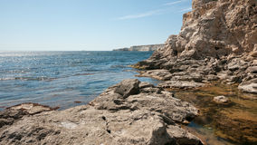 Crimean cliffs stock photography