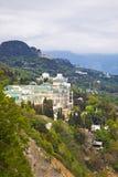 Crimean coast. Mountain type of coast of the Black sea. Crimea Royalty Free Stock Photo
