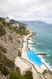 Crimean coast. Mountain type of coast of the Black sea. Crimea Stock Photography