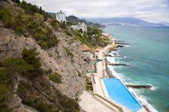 Crimean coast. Mountain type of coast of the Black sea. Crimea Stock Images