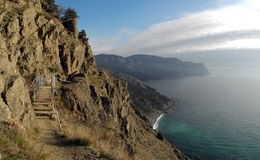 The Crimean coast. Of the Black See near Balaklava, Sevastopol, Ukraine Royalty Free Stock Images