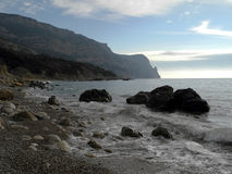 The Crimean coast. Crimean coast near Balaclava, Sevastopol, Ukraine Royalty Free Stock Images
