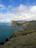 The Crimean coast of Black See near Balaklava. In the spring day royalty free stock photos