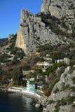 Crimean coast. Near Alupka. Diva mountain Royalty Free Stock Photography