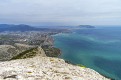 Crimean coast, view from the mountainside. Royalty Free Stock Photos