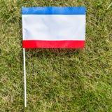 Crimean flag. On the grass Royalty Free Stock Photos