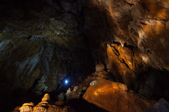 I en grotta Royaltyfria Bilder