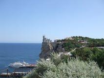 Crimean halvö yalta Slottsvalan bygga bo Fotografering för Bildbyråer