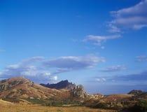Crimean landscape. Beautiful mountain landscape with vineyards. Crimea, Ukraine Royalty Free Stock Photography