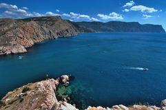 Crimean landscape - Balaklava Royalty Free Stock Photography