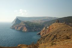 Crimean Landscape. With cliffs above the sea Stock Photography