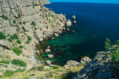 Crimean landscape - Meganom bay Royalty Free Stock Photo