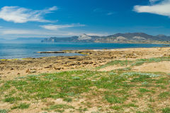 Crimean landscape on Meganom cape Stock Photography