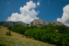 Crimean landscape - mountain Echki-dag Royalty Free Stock Photo