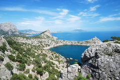 The Crimean landscape with pointed capes Stock Image