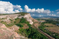 Crimean landscape. With a railway Royalty Free Stock Image