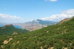 Crimean mountain landscape Stock Photos