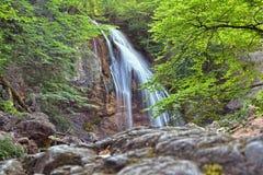 Crimean mountain waterfall Stock Photo