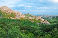 Crimean mountains Royalty Free Stock Photography