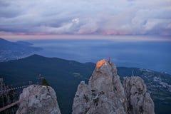 Crimean mountains. Ai-Petri rocks. Stock Photo