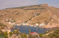 Crimean Mountains form the city of Balaklava Royalty Free Stock Photos