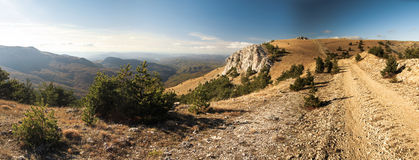 Crimean Mountains. Hiking in Ukrainian Crimean Mountains royalty free stock images