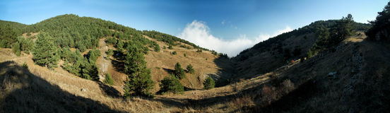 Crimean Mountains. Hiking in Ukrainian Crimean Mountains royalty free stock photos
