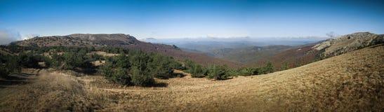 Crimean Mountains. Hiking in Ukrainian Crimean Mountains stock photos