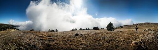 Crimean Mountains. Hiking in Ukrainian Crimean Mountains royalty free stock photo