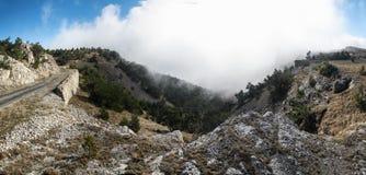 Crimean Mountains. Hiking in Ukrainian Crimean Mountains stock photo