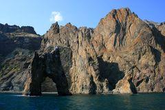 Crimean mountains near Koktebel in August. Crimean mountains in a hot sunny day near Koktebel Stock Photography