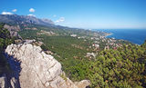 Crimean mountains landscape panorama. Ukraine stock image