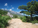 Crimean mountains landscape. South of Crimea, Ukraine stock images