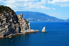 Crimean mountains. Look from the Swallow's Nest Stock Photos