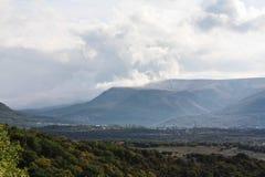 Crimean mountains. Crimean mountain landscape. Simferopol, Red Cave (Kizil-Koba) and Sioux Falls Uchhan Royalty Free Stock Photos