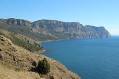 Crimean mountains near Balaklava, Sevastopol Stock Photos